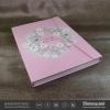 กล่องโชว์ตัวอย่างลายเล็บ Nail Gel Color Card สีชมพู ลายดอกไม้