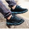 รองเท้าผ้าใบหนังแท้ ยี่ห้อ Merrto รุ่น 8619 สีดำ/ฟ้า
