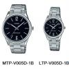 นาฬิกา คาสิโอ Casio SETคู่รัก รุ่น MTP-V005D-1B+LTP-V005D-1B ของแท้ รับประกัน 1 ปี