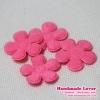 ดอกไม้ สีชมพูเข้ม (แพ็ค 15 ชิ้น)