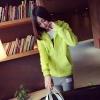 เสื้อคลุม แขนยาว บุกันหนาว ซิบหน้า มีฮูด สีเหลืองเลม่อน