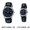 นาฬิกา คาสิโอ Casio SETคู่รัก รุ่น MTP-V002L-1B+LTP-V002L-1B ของแท้ รับประกัน 1 ปี
