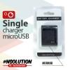 Single Charger microUSB - ที่ชาร์ตแบตแยกกล้อง SJCAM ผ่าน microUSB