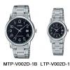 นาฬิกา คาสิโอ Casio SETคู่รัก รุ่น MTP-V002D-1B+LTP-V002D-1B ของแท้ รับประกัน 1 ปี