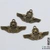 จี้โลหะ,ตัวห้อยซิป สีทองรมดำ รูปเครื่องหมายกองทัพ