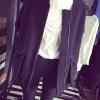 เสื้อคลุมตัวยาว แขนยาว ซิปหน้า สีพื้น สีดำ