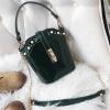 กระเป๋าแฟชั่น ทรงสูง หนัง PU อย่างดี สีเขียว