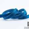 ริบบิ้นผ้ากากเพรช สีฟ้า ขนาด 10 มิล