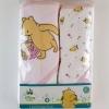 """ผ้าห่อตัว/ผ้าเช็ดตัวลายหมีพูห์ เซต 2 ผืน (30""""x30"""")"""