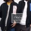 (ภาพจริง)เสื้อคลุม แขนยาว ผ้าpoly ester ซิปหน้า ลาย What your real life สีดำ