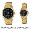 นาฬิกา คาสิโอ Casio SETคู่รัก รุ่น MTP-V002G-1B+LTP-V002G-1B ของแท้ รับประกัน 1 ปี