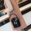 กระเป๋าแฟชั่น ทรงสูง หนัง PU อย่างดี สีดำ