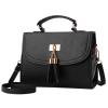 ***พร้อมส่ง*** กระเป๋าหนังแฟชั่นสตรี รหัส BV-3002 (B6-037) สีดำ สไตล์เกาหลี สำหรับ สุภาพสตรีทันสมัย ราคาไม่แพง