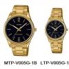 นาฬิกา คาสิโอ Casio SETคู่รัก รุ่น MTP-V005G-1B+LTP-V005G-1B ของแท้ รับประกัน 1 ปี