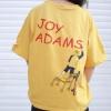 เสื้อแฟชั่น คอกลม แขนสั้น แต่งขาดๆ ลาย ADAMS สีเหลือง
