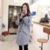 (ภาพจริง)เสื้อโค้ท กันหนาว แขนยาว กระดุมหน้า ผ้าสำลี สีฟ้า