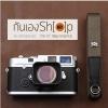 สายกล้องคล้องคอ cam-in สีพื้นเส้นเล็ก สีเขียวโอลีฟ แบบห่วง 25 mm