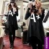 เสื้อตัวยาวสีดำลายA+