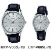 นาฬิกา คาสิโอ Casio SETคู่รัก รุ่น MTP-V005L-7B+LTP-V005L-7B ของแท้ รับประกัน 1 ปี