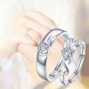 แหวนคู่รักร้าน silver 92.5 GQL006 (1คู่)