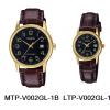 นาฬิกา คาสิโอ Casio SETคู่รัก รุ่น MTP-V002GL-1B+LTP-V002GL-1B ของแท้ รับประกัน 1 ปี