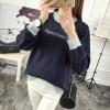 (ภาพจริง)เสื้อแฟชั่น แขนยาว บุกันหนาว คอกลม Replay สีน้ำเงิน