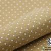 ผ้าสักหลาด พิมพ์ลายจุดเล็ก สีน้ำตาลอ่อน
