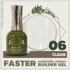 เจลต่อเล็บแบบทา สีใส clear FASTER BUILDER GEL