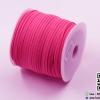 [3 มิล] เชือกหนังชามุด สีชมพู ม้วนใหญ่ (100 หลา)