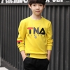C123-56 เสื้อกันหนาวเด็กบุขนนุ่ม สกรีนลาย สีเหลืองสวย ใส่อุ่นสบาย size 120-160