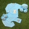 เซตผูกหน้ายาว 4 ชิ้น ผ้า Interlock Cotton ( 3-6 เดือน)