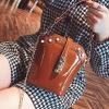 กระเป๋าแฟชั่น ทรงสูง หนัง PU อย่างดี สีน้ำตาล