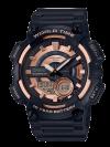 """นาฬิกา Casio 10 YEAR BATTERY AEQ-110 series รุ่น AEQ-110W-1A3V """"Black & Rose Gold"""" ของแท้ รับประกัน 1 ปี"""