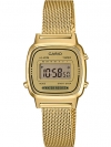 นาฬิกา Casio STANDARD DIGITAL LA670WEM Milanese series รุ่น LA670WEMY-9 (สายแบบถัก) ของแท้ รับประกัน 1 ปี