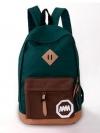 [สีเขียวเข้ม] กระเป๋าเป้สะพายหลัง Backpack แฟชั่นเกาหลีทั้งผู้ชายและผู้หญิง
