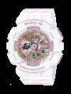 นาฬิกา Casio Baby-G BA-110CH CHANCE series รุ่น BA-110CH-7A (สีขาวสายลายริบบิ้น) ของแท้ รับประกัน1ปี