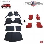 พรมรถยนต์ 7 D Anti Dust รถ MAZDA 2 SKYACTIV 5 DOOR 2015-2019 จำนวน 6 + 4 ชิ้น