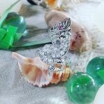 แหวนพญานาคประดับเพชร