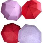 ร่มแฟชั่นพับ3ตอน มือเปิด ผ้า PG ลายน้ำ (จะปรากฎลายเมื่อโดนฝน)กัน UVในตัว ปลอกผ้า