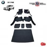 พรมรถยนต์ 6D Leather Car Mat จำนวน 7 ชิ้น BMW ALL NEW X1 (F48)