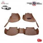 สินค้า PROMOTION!! HONDA ALL NEW CIVIC (FC,FK) 2016-2020 พรมเข้ารูป 6 D Leather Car Mat จำนวน 3 ชิ้น สีน้ำตาลอ่อน