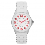 Marc by Marc Jacobs MBM2588 Pelly White Silicone Watch