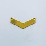 จี้โลหะ สไตล์มินิมอล ( minimal style ) รูปบั้ง สีทอง ขนาด 10 x 31 mm.