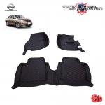 สินค้า PROMOTION!! NISSAN ALMERA พรมเข้ารูป 6 D Leather Car Mat จำนวน 3 ชิ้น สีดำด้ายแดง