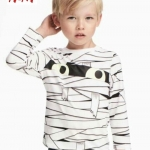 เสื้อยืดเด็กแขนยาว สีขาว H&M ขนา 2-10 ปี