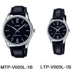 นาฬิกา คาสิโอ Casio SETคู่รัก รุ่น MTP-V005L-1B+LTP-V005L-1B ของแท้ รับประกัน 1 ปี