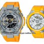 นาฬิกา Casio G-SHOCK x BABY-G คู่เหล็กSteel เซ็ตคู่รัก G-STEEL x G-MS series รุ่น GST-410-9A x MSG-400-9A Pair set ของแท้ รับประกัน 1 ปี