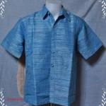 เสื้อผ้าไหมญี่ปุ่นสีฟ้าเข้ม XXL NS060-9