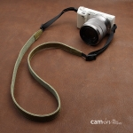 สายคล้องกล้องหนังแท้ cam-in Tiny Leather สายหนังเส้นเล็ก สีเขียวอมเหลือง