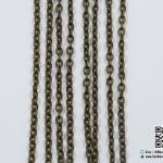 โซ่ สีทองรมดำ ขนาด 2x3 mm.